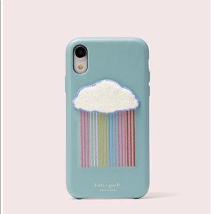 Kate Spade rainbow cloud iPhone XR case